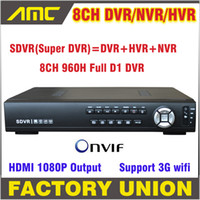 Wholesale D1 H 264 8ch - Wholesale-960H SDVR HVR NVR DVR All In One CCTV 8CH Full D1 H.264 DVR Security System 1080P HDMI Output DVR Super 8 channel support Onvif