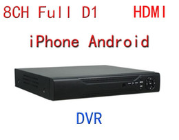 Wholesale D1 Security System Hdmi 8ch - Wholesale-Free shipping FULL new security camera system 8 Channel 8CH Full D1 HDMI CCTV DVR PLUG&PLAY Remote Viewing 2TB iPhone Android