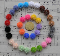 Wholesale Resin Flower Embellishments - Wholesale-Free Shipping100 Pcs Mixed Colors Cabochon Resin Flowers Flatback Scrapbook Fit Phone Embellishment 14mm