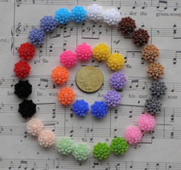 Barato Enfeites Grossistas Flatback-Wholesale-Free Shipping100 Pcs Mixed Colors Cabochon Resin Flowers Flatback Scrapbook Fit Phone Embellishment 14mm