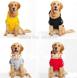 Wholesale Dog Clothes Coat Hoodies - Wholesale-2015 Cute Big Dog Clothes Large Pet Sportwear Fashion Hoodie Jumper Coat Size(3XL-9XL)Promotion