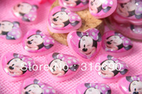 Wholesale Bow Flatbacks - Wholesale-Very Kawaii Smile Mickey Mouse Cabochons Resin Flatbacks Scrapbooking Hair Bow Center Crafts Making Embellishments DIY
