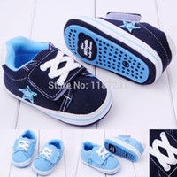 Wholesale Learn Walk Shoes - Wholesale-2015 New Baby Boy Canvas Sports Prewalker Shoes,Infant Soft Sole Shoes Learning Walk,Good Quality,Baby Footwear