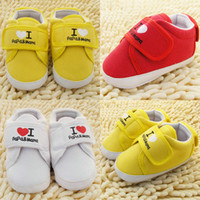 милый тапочки девушка оптовых-Wholesale-Heart Cute Infant Toddler Baby Boy Girl Soft Sole Crib Shoes Sneaker Newborn Hot Wholesale Free Shipping