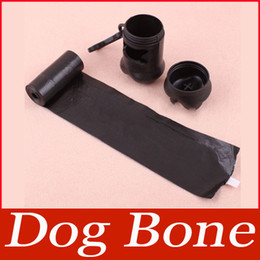Wholesale Carrier Bag Holder Dispenser - Wholesale-Pet Dog Bone Shape Dispenser Box Garbage Clean Up Waste Bag Carrier Holder Case