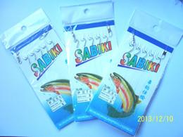 gancho de ventas Rebajas Wholesale-30-Packs Sabiki Bait aparejos de pesca 5 ganchos Tamaño 6 # 7 # 8 # Aparejos de pesca precio de venta total