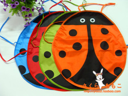 Wholesale Ladybug Kids Kitchen - Wholesale-5PCS LOT 5 colors Cute Ladybug Kids Kitchen Garden Fabric Craft Apron Lovely Child Pinafore