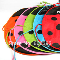 Wholesale Ladybug Kids Kitchen - Wholesale-Hotsell New Cute Ladybug Kids Kitchen Garden Fabric Craft Apron Lovely Child Waterproof Pinafore Free Shipping