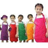 Wholesale-5pcs / set regolabile Plain spoiler anteriore Pocket bambini cameriere chef di cucina Cook Craft Bib