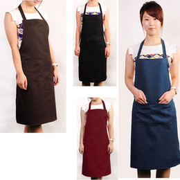 Wholesale Canvas Kitchen Aprons - Wholesale-New Restaurant Women Men Home Kitchen Cooking Craft Work Commercial Kit Apron Full BIB With Pockets Unisex Free Shipping