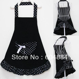 Wholesale Princess Style Apron - Wholesale-New Sale! 1Pcs Lady Lovely Princess Style Cotton Apron with big pocket for Cooking Kitchen Free Shipping