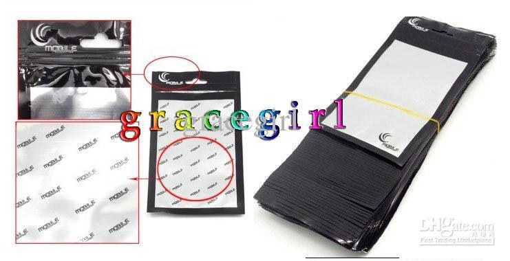Zíper De Plástico Transparente Pacote de Varejo Saco PP Embalagem Celular Celular telefone celular case para iphone SE 5 5S 4 4G 4S 3G Toque 6 5 2 3 4 Luxo
