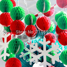 """Wholesale Honeycomb Paper Decorations - Wholesale-2""""(5cm) 30pcs Tissue Paper Honeycomb Balls Decorative Balls Honeycomb Paper Decor Wedding Decoration Birthday Baby Shower"""