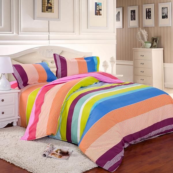 Wholesale-Luxury bedding set 4pcs bedclothes bed linen sets queen king size Quilt duvet cover set bedsheets cotton bedcover FAST ship