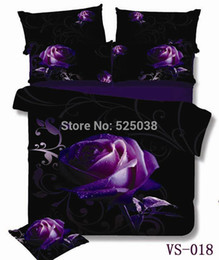 Wholesale Roses Crib Bedding - Wholesale-6 Pieces per set Absolutely Beautiful Purple Rose and Print 3D Bedding Set very New
