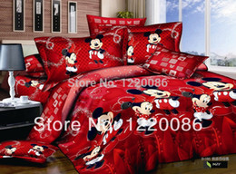 Wholesale Minnie Mouse Queen Comforter - Wholesale-Mickey and Minnie Mouse Bedding sets Comforter Sets King FUll Queen Size Mickey Mouse Bedding Bedclothes Duvet covers