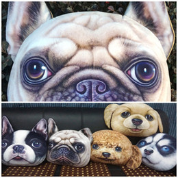 Wholesale Types Cushions Pillows - Wholesale-Personality 2015 New Chair Pillow Car Cushion Cover Creative Handsome Dog shape Nap pillow Cover Cute seat cushion more types
