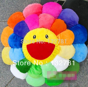 Wholesale-Diameter 42cm Murakami Takashi Sunflower Plush Toy, Sofa Cushion AUTO ACCESSORY Free Shipping on Sale