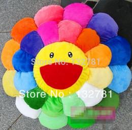 Wholesale Fabric Sunflowers - Wholesale-Diameter 42cm Murakami Takashi Sunflower Plush Toy, Sofa Cushion AUTO ACCESSORY Free Shipping