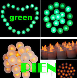 Wholesale Candles Of Led For Wedding Led Christmas Gift Night Lights Flameless Color Changing Holiday Party Xmas Free Shipping 50pcs Lot