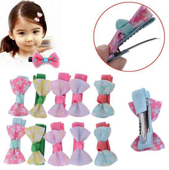 Girls Baby Kids Children Hair Accessories Bows Snaps Alligator Clips Slides