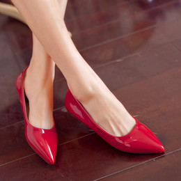 Pointy flats shoes online shopping - New pointy flat shoes nice candy colors wowen shoes