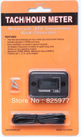 Wholesale Gasoline Engine Hour Meter - Wholesale-Digital Hour meter tachometer tach digital hour meter for2& 4 stroke gasoline engine
