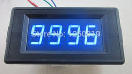 Wholesale 24v Digital Panel Meter - Wholesale-Blue DC 24V 4 Digit Digital LED Counter Panel Meter Up and Down Totalizer 0-9999