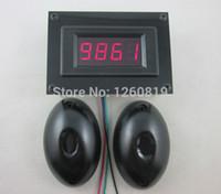 люди счётчики оптовых-Оптовая продажа-12 В 4 цифровой Красный LED люди Mover счетчик подсчета счетчик + фотоэлектрический инфракрасный детектор для магазина парковка прохождение двери офиса