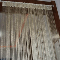 Wholesale Colors Vogue Curtain Silver Silk Tassel String Door Window Living Room Divider Curtain Valance Freeshipping