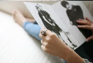 Bestseller vintage mode camera vorm ringen gepersonaliseerde retro verstelbare ring 3 kleuren /