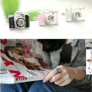 Best Seller Vintage Fashion Camera Shape Rings Personalized Retro Adjustable Ring