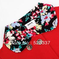 Wholesale Nova Kid Wear Girl Flower - Wholesale-FREESHIPPING F3590# 5pieces lot NOVA kids wear lovely polka dot and embroidered flowers Baby girl fleece zipper up hoody jacket