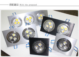 Wholesale Grille Spotlights Ceiling Light Lamp - Wholesale-Hot sell 3W AC85~220V LED Spotlights Square Led Ceiling Spot Recessed Grille Lamp Living Room TV Wall Cabinet Mirror Light