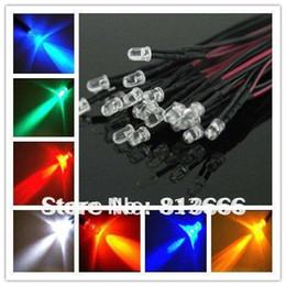 Wholesale Leds 12v 5mm - Wholesale-free shipping 100pcs lot 5mm red green bule White LEDs Bulb 20cm Prewired 12V LED Lamp