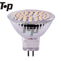 Wholesale 12v Mr16 Bulb Lumen - Wholesale-Free shipping 6 pcs lot High lumen 3w MR16 socket 12V led spotlight spotlighting bulb lamp light SMD3528 60pcs