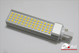 g24 52 led Canada - Wholesale-Ultra bright 13W G24 SMD 5050 LED Spot Light Bulb White,Warm white LED lighting with 52 led 120 degree for home,office,hotel