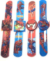Wholesale watch spider - Wholesale-Hot children spider man slap watch sports brand watch digital watch children cartoon slap watches