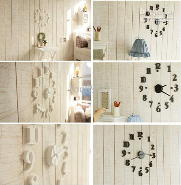 China Post Air Novelty Clocks Modern Interior Design Deco Decal