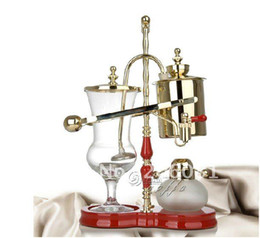 Wholesale Royal balancing siphon coffee maker belgium coffee maker syphon coffee maker nice champagne color famouse