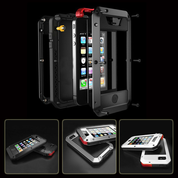 Best quality for iphone5 iphone 5s EXTREME rainproof Shockproof Dirtproof Aluminum case Metal cover with Gorilla Glass Wholesale