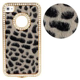 Wholesale Iphone Bling Leopard - Wholesale-Luxury Bling Crystals Rhinestones Leopard Case for iPhone 4 4G 4S Freeshipping Kimisohand