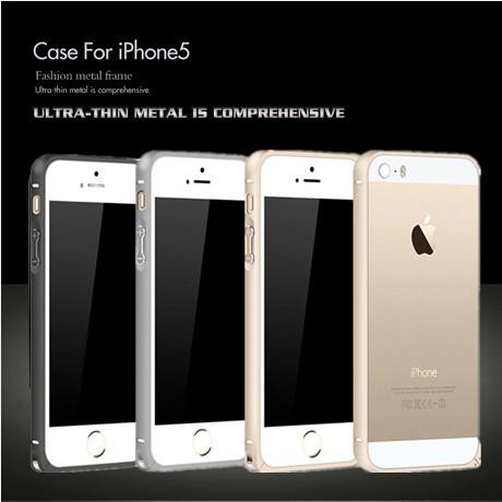 Wholesale-Ultra-Thin Metal Aluminum frame bumper 1 Piece Free Shipping Fashion New Arrival For case Apple iphone5 i Phone iPhone 5 5s