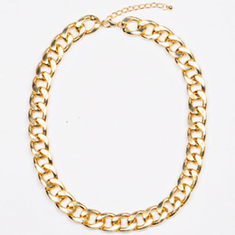Wholesale chunky chain collar - Wholesale-Artilady hot sale 18k gold chunky chain necklace jewelry choker collar necklace 2016 women jewelry