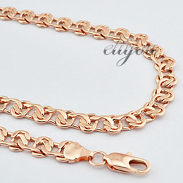 $enCountryForm.capitalKeyWord Canada - Wholesale-8mm New Fashion Jewelry Mens Womens Snail Style Link Chain 18K Rose Gold Filled Necklace Free Shipping Gold Jewellery C01 RN