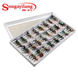 Wholesale Barbed Fishing Hooks - Wholesale-Hot !! Free shipping Salmon Flies Butterfly Style Single Hook Dry Fishing Lure With Hooks 96pcs Lot Fly Fishing Lure