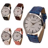 relojes de pulsera para mujer al por mayor-Reloj analógico del cuarzo del cuero de la PU para hombre al por mayor de las señoras-Mens Envío libreWholesale