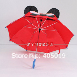 Wholesale Umbrella Minnie - Wholesale-Free Express 3d Mickey Mouse Cartoon Children Ear Umbrella Parasol Mixable w  Minnie Kitty Thomas Butterfly Lion Princess etc