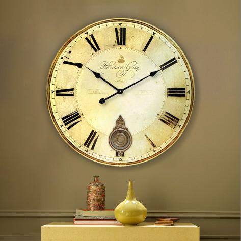 Wholesale 34cm Amp 60cm Vintage Large Round Wood Wall Watch
