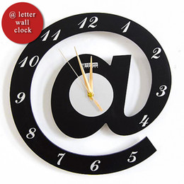 Wholesale Silent Digital Clock - Wholesale-[funlife]-Free Ship @ Letter Mathematical Wall Clock Ornamental Personalized Stylish Quartz Silent Decorate For Office&Bedroom